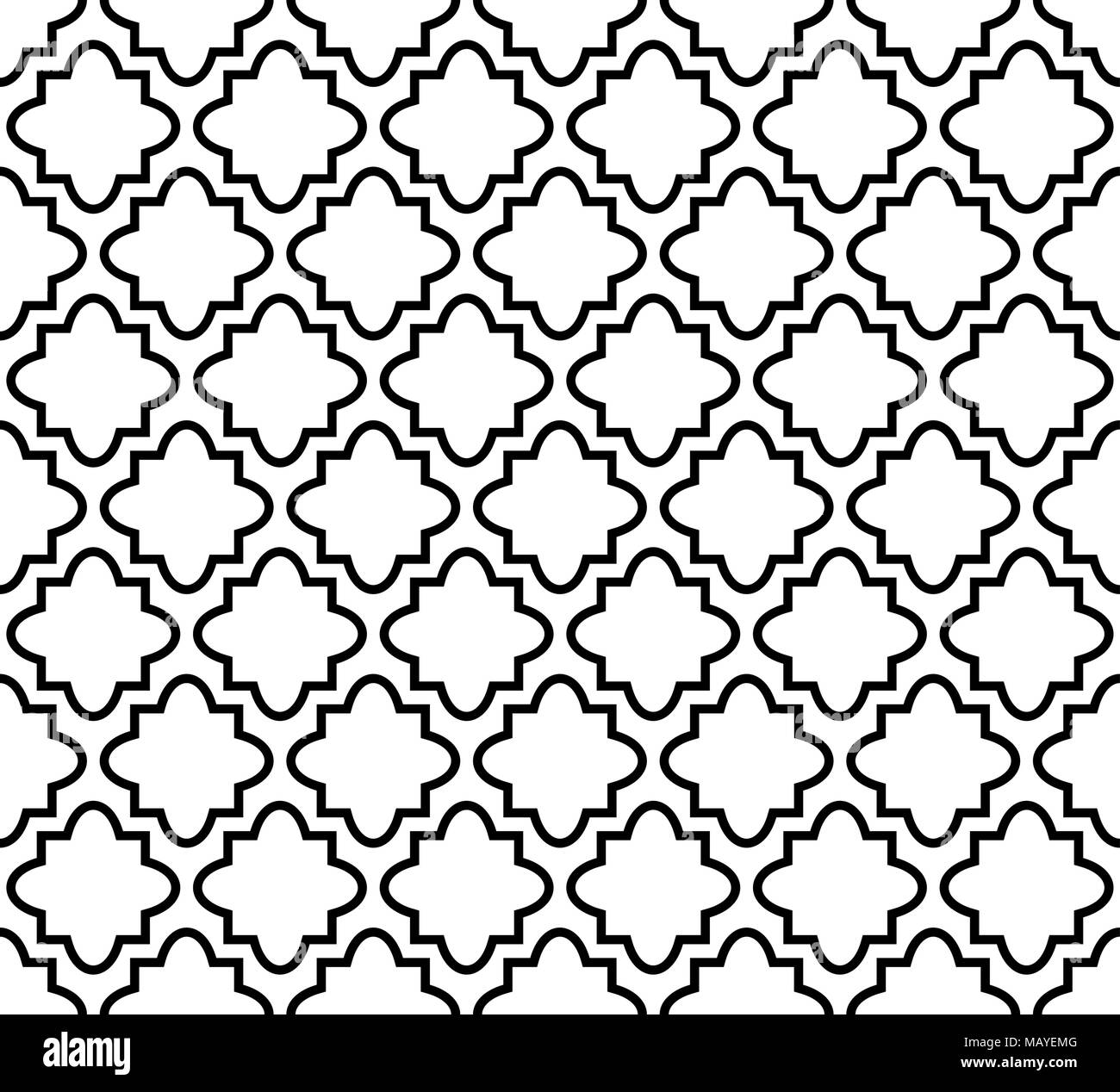 Seamless pattern in islamic style, vector geometric ornament texture or background - Stock Vector