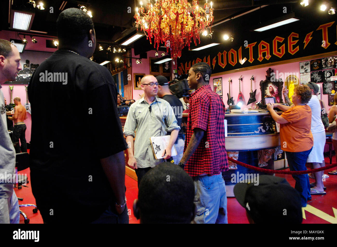 Deandre Way aka Soulja Boy Tell \'Em at Kat Von D High Voltage Tattoo ...
