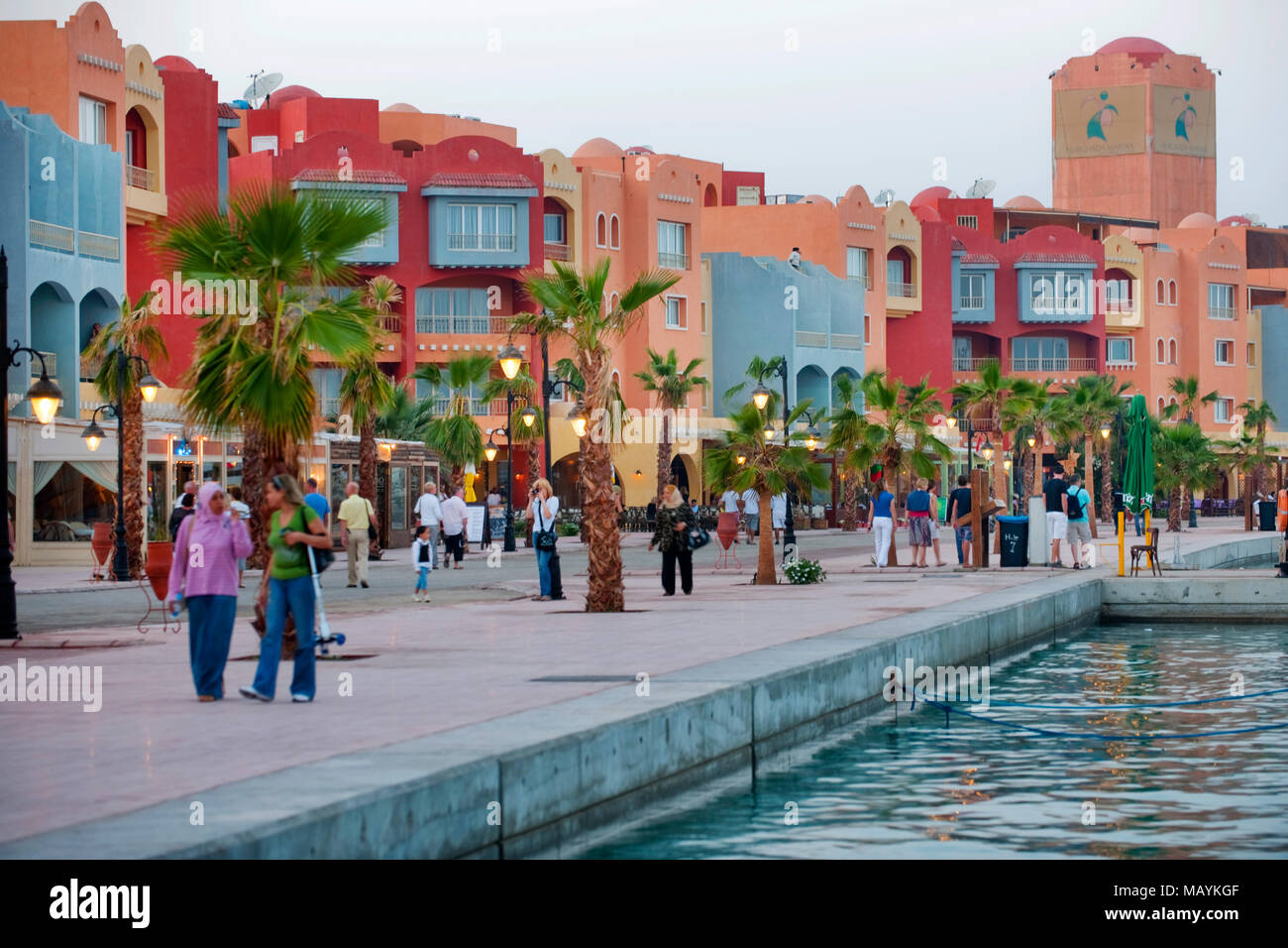 Aegypten, Hurghada, Marina Stock Photo