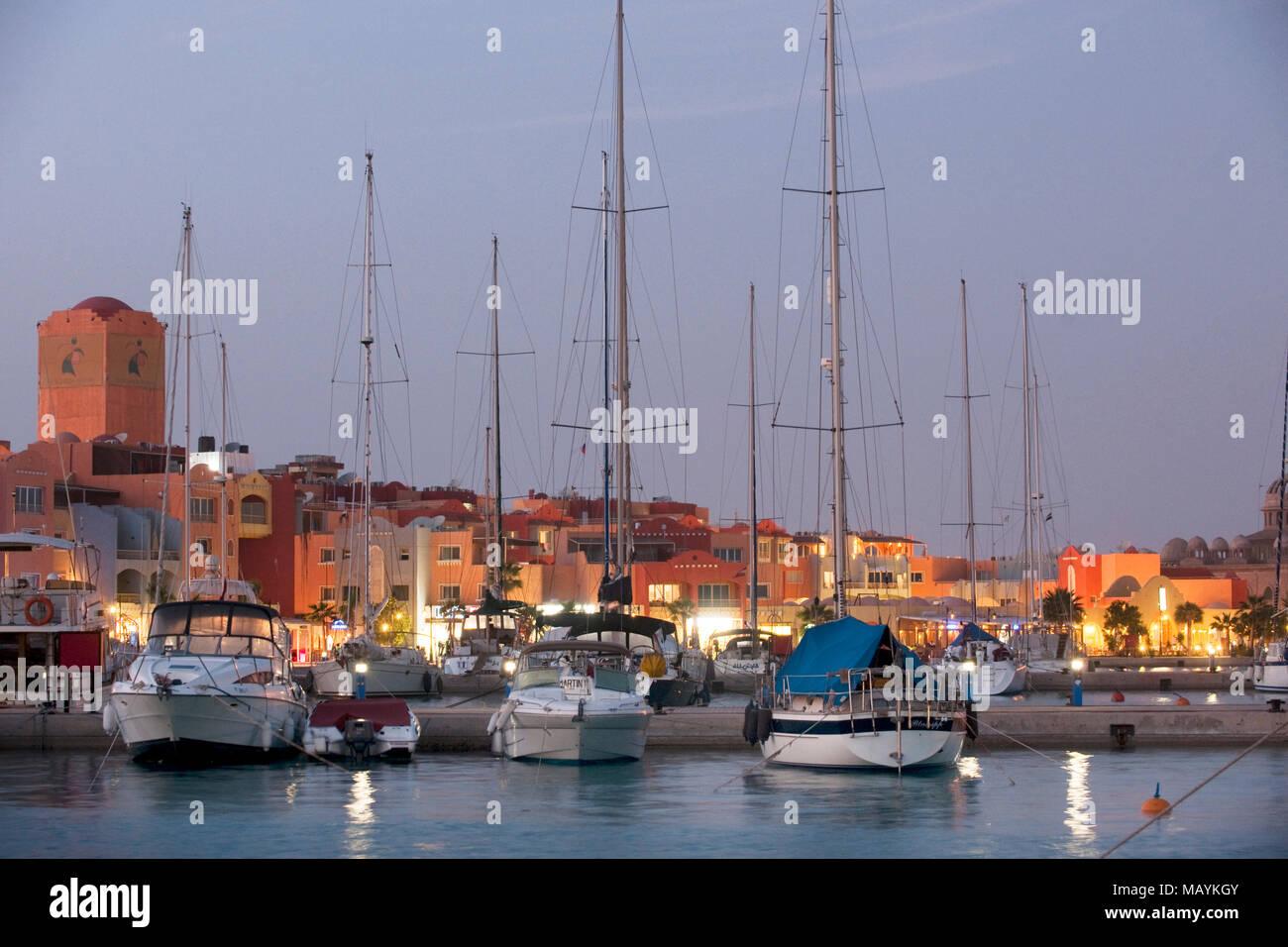 Aegypten, Hurghada, Marina Stock Photo