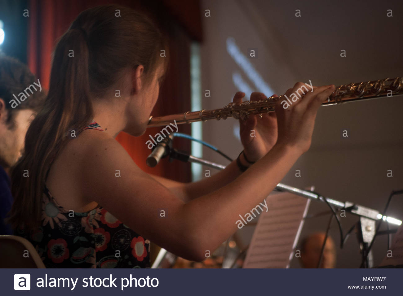 The flute and the melody - Stock Image