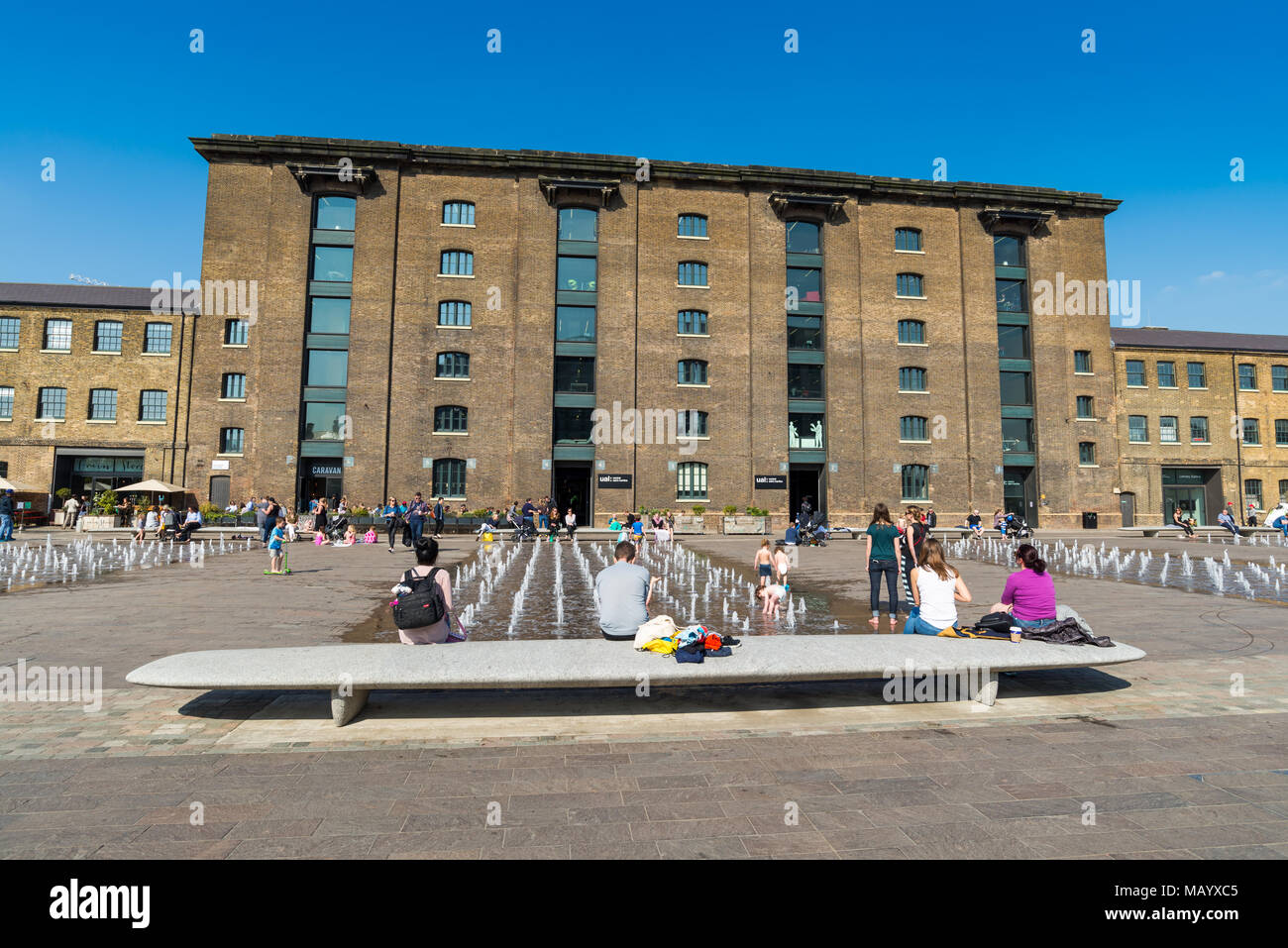 Central St Martins in Granary Square, King's Cross, London, UK - Stock Image