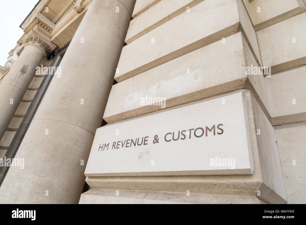 HM Revenue and Customs, Whitehall, London, UK - Stock Image