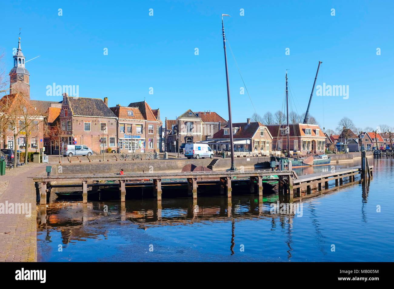 Historic Architecture in Blokzijl, Overijssel, The Netherlands. Stock Photo