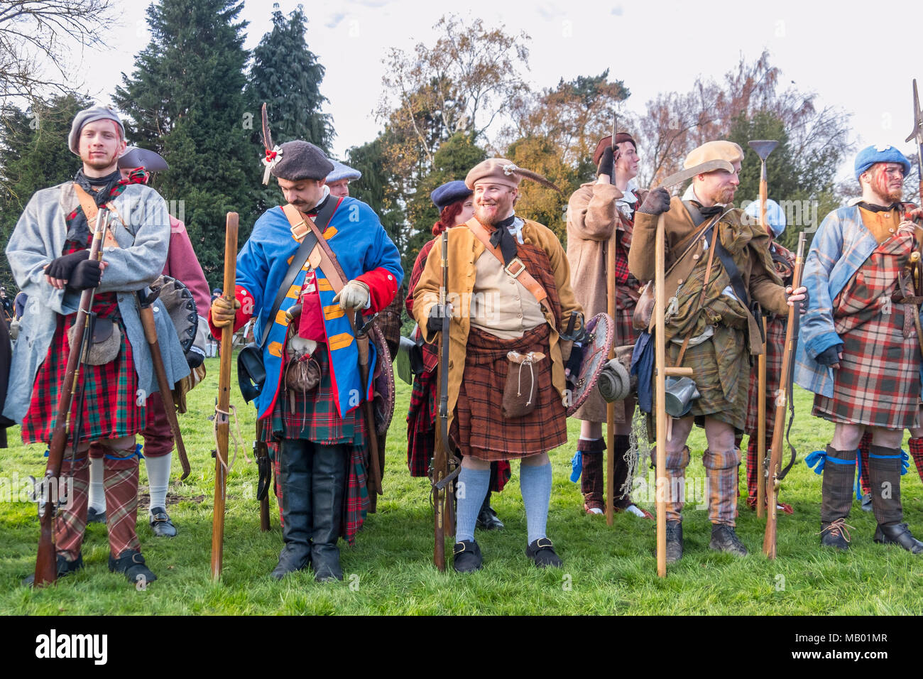 b6008a3addea3 Scottish soldiers in a reenactment of the Jacobite rising of 1745 in  support of Bonnie Prince