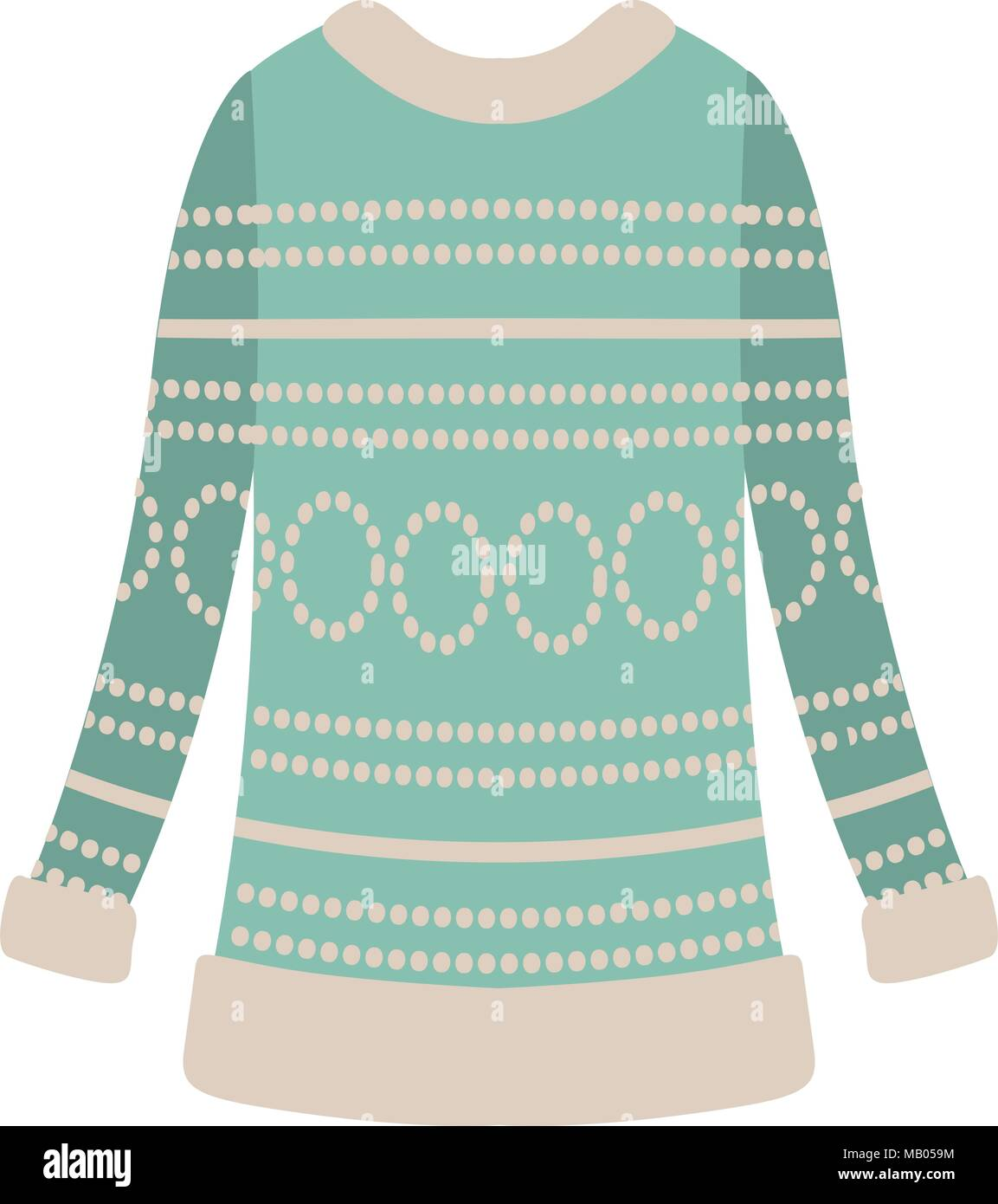Wool sweater clothes icon - Stock Vector