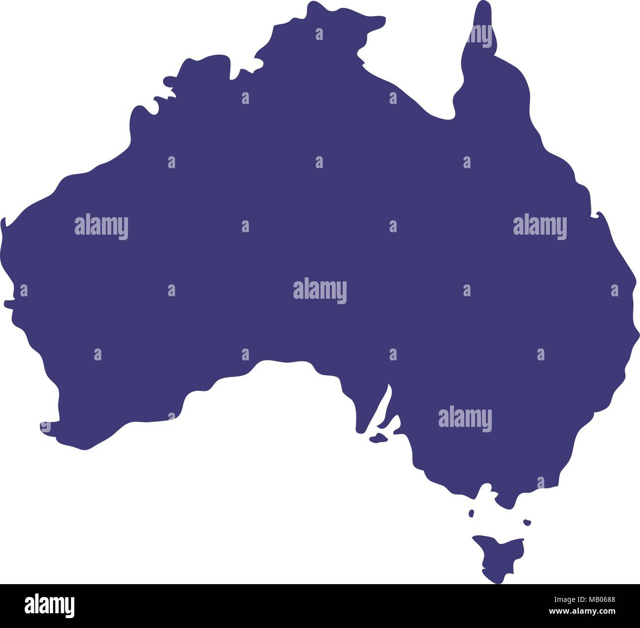 Australia Map Icon.Australia Map Geography Icon Stock Vector Art Illustration