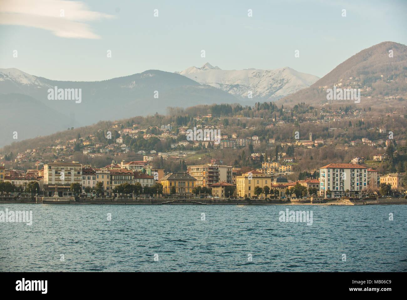 Intra, Lago Maggiore, VB, Italy - Stock Image