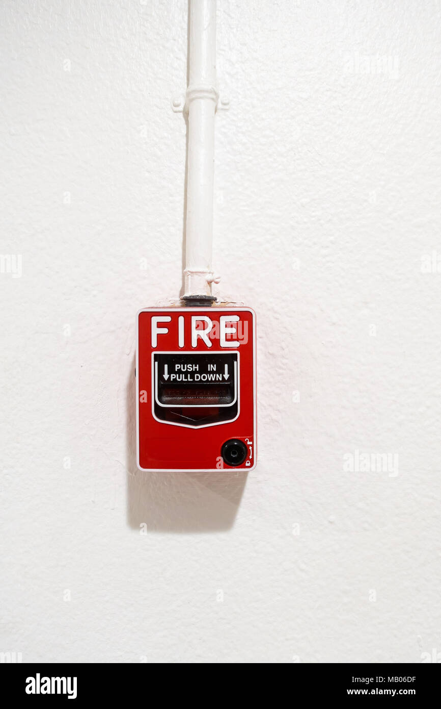 Breaker Box Stock Photos Images Alamy 06turnoffcircuitbreakerbox Fire On Wall Background Protection System Image