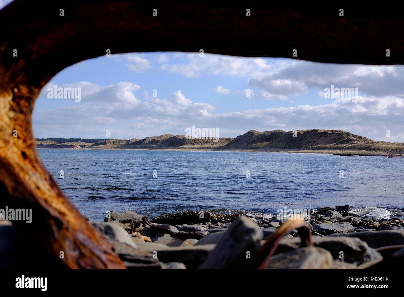 CAITHNESS, UK:  The North Coast 500 is a 516-mile (830 km) scenic route around the north coast of Scotland. Pictured Dunnet Beach, Caithness. - Stock Image