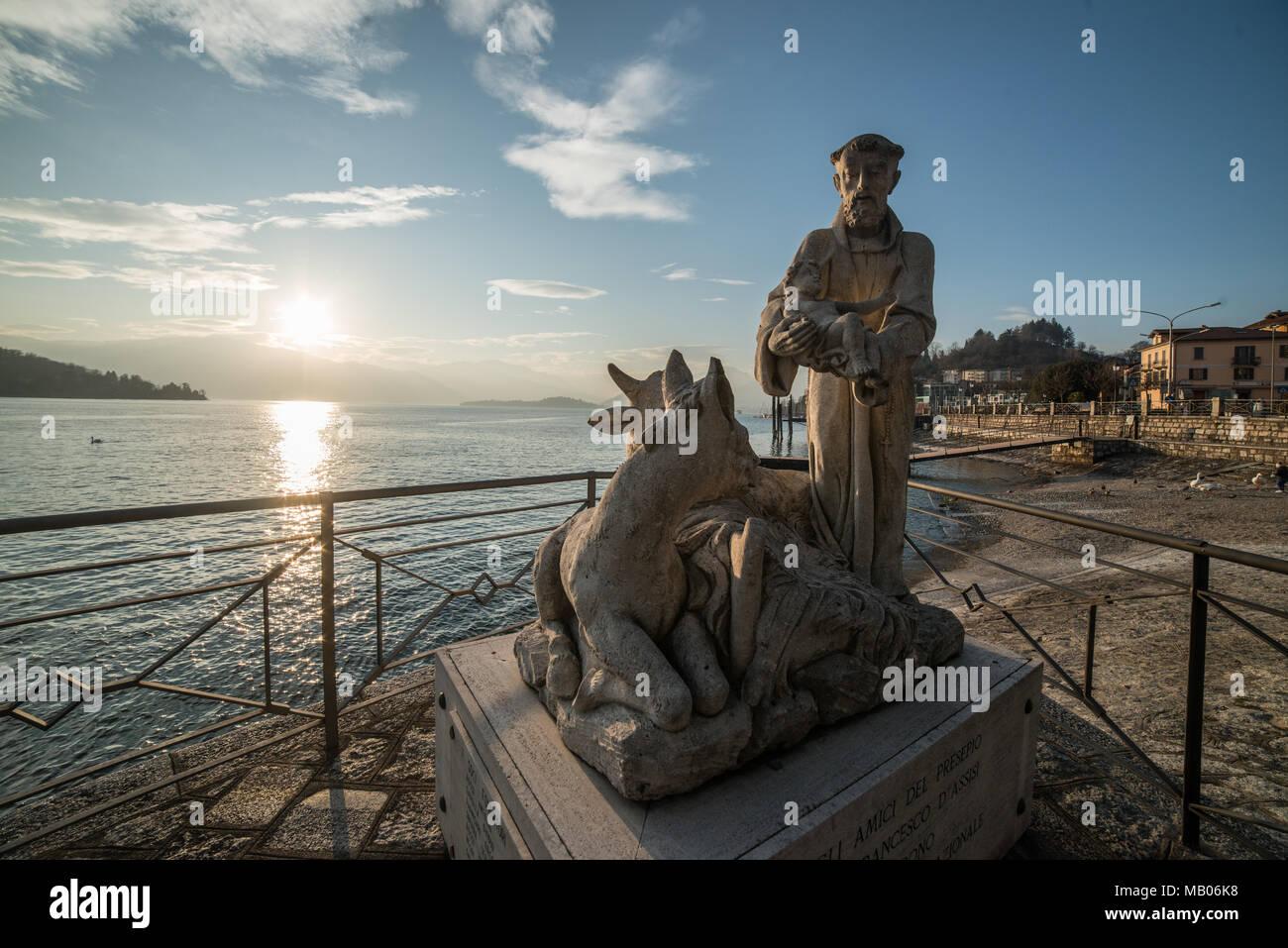 Laveno Mombello, Lombardy, Italy - Stock Image