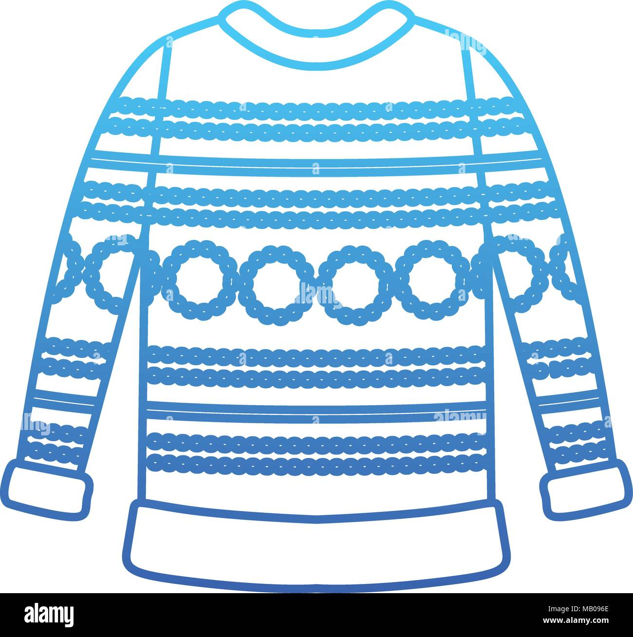 Wool sweater clothes icon Stock Vector