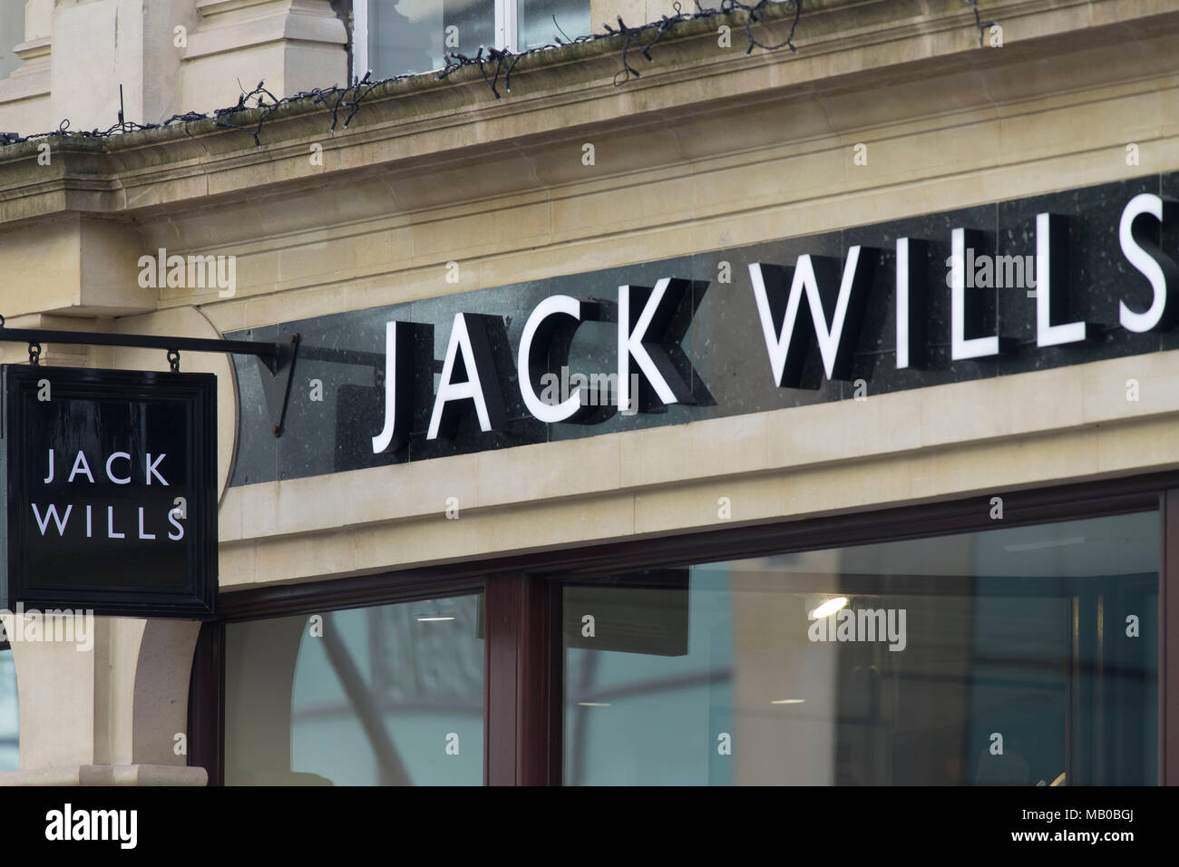 b3a68bfd90 Jack Wills clothing store shop sign logo Stock Photo: 178873986 - Alamy