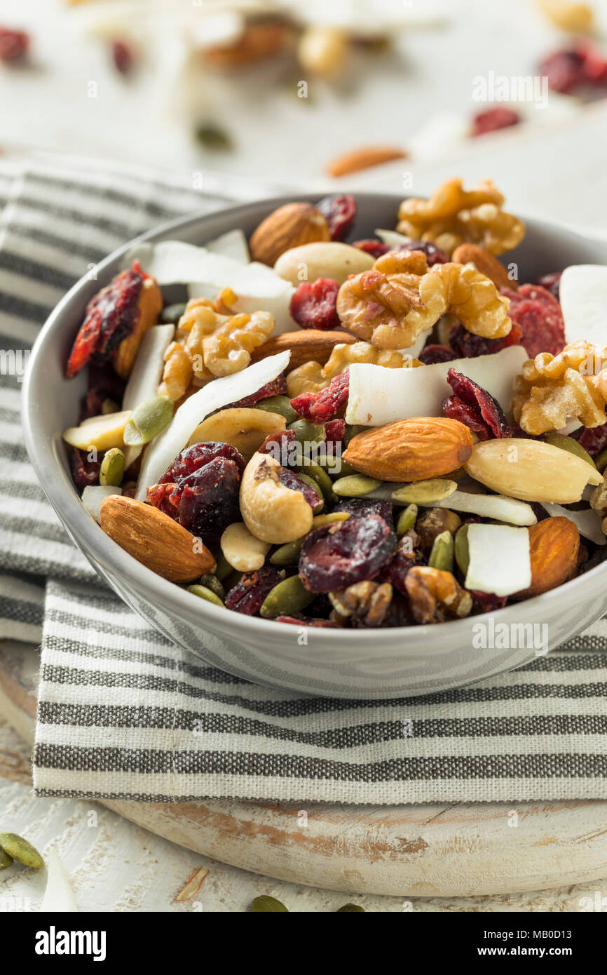 Healthy Homemade Superfood Trail Mix with Nuts and Fruit - Stock Image