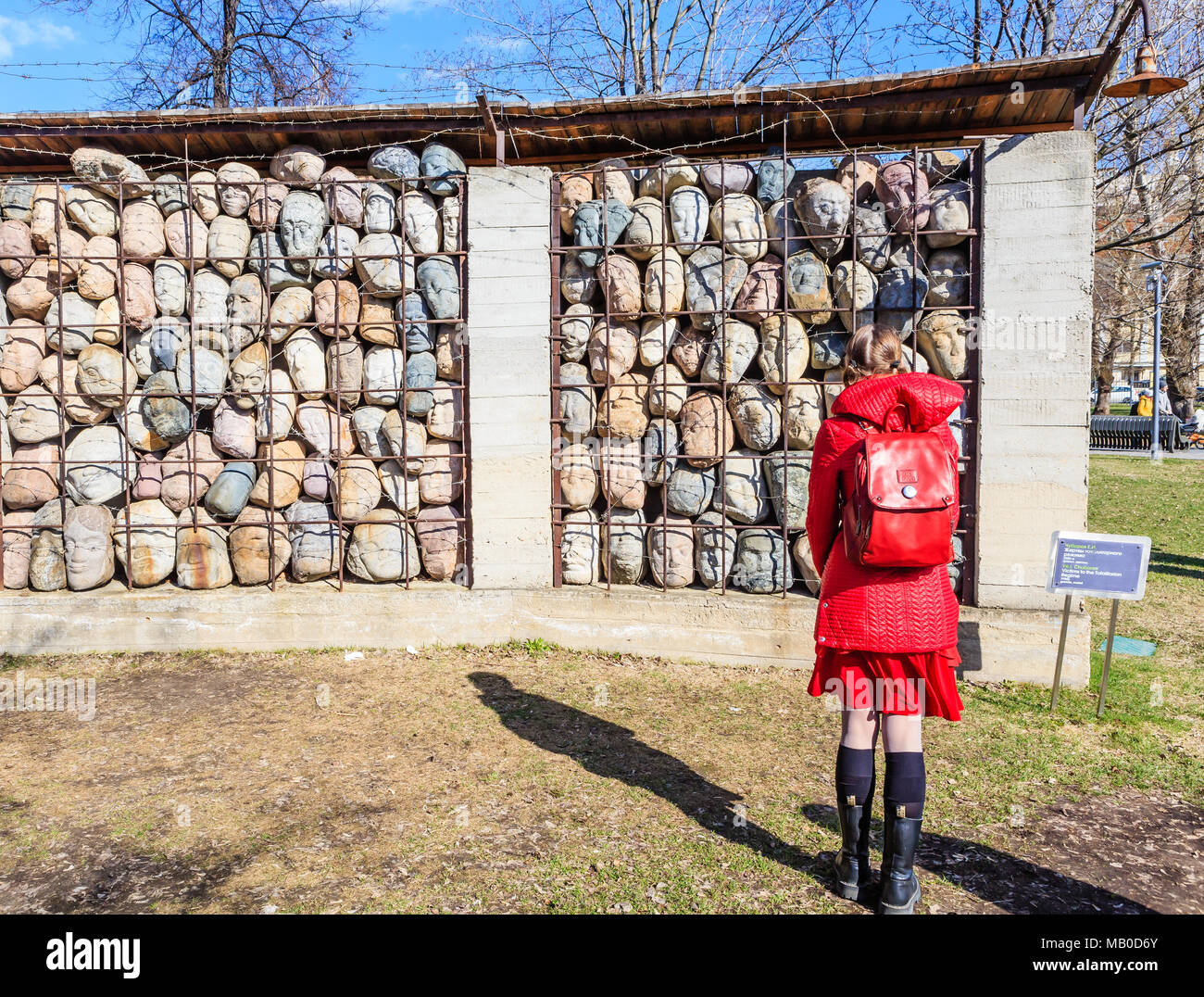 Sculptural composition of the memory of victims of Stalinist repression in the Art Park 'Museon' in Moscow - Stock Image