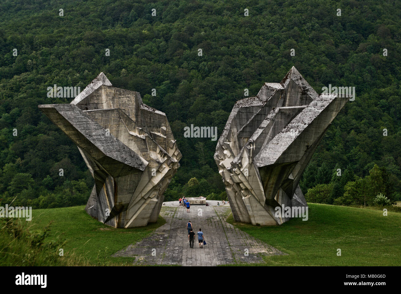 Tjentiste War Memorial, Sutjeska National Park, Bosnia and Herzegovina - Stock Image