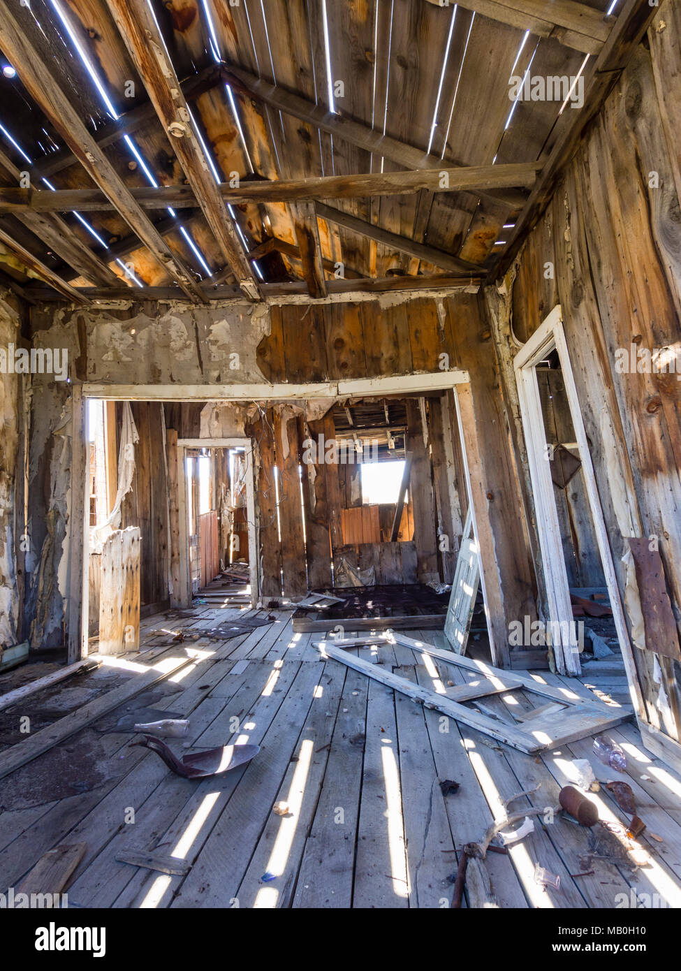 Look Inside An Abandoned Desolate Building At Bodie State Historic Park A Former Wild