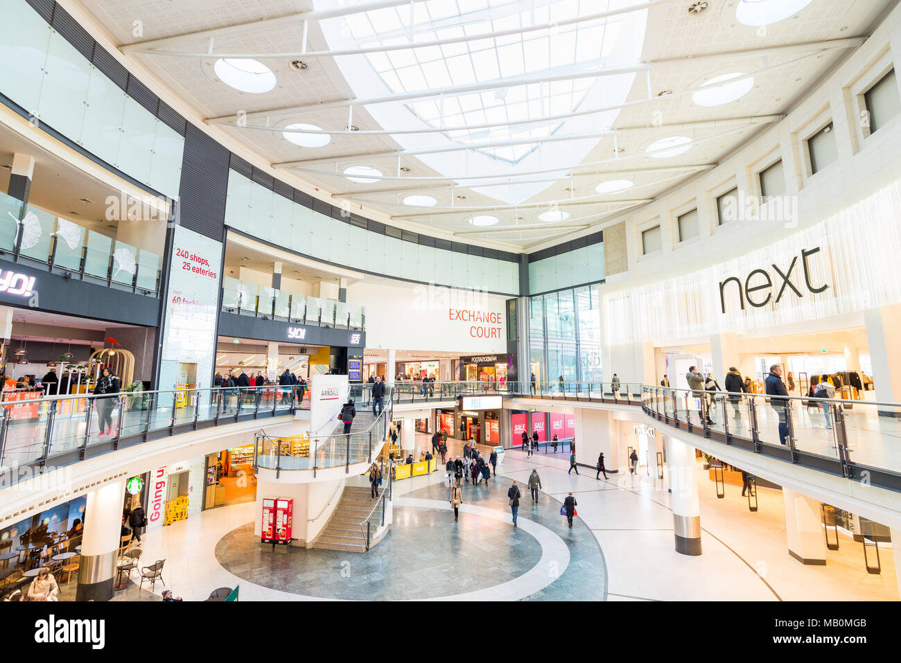 Manchester Arndale Centre, UK - Stock Image