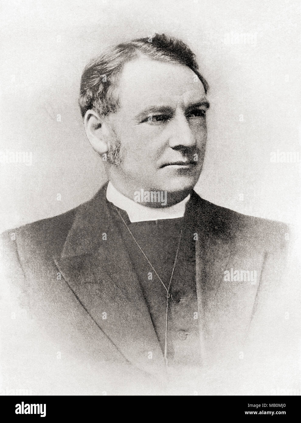 Rev. John Watson, 1850 – 1907, known by his pen name Ian Maclaren.  Scottish author and theologian.  From The International Library of Famous Literature, published c. 1900 - Stock Image