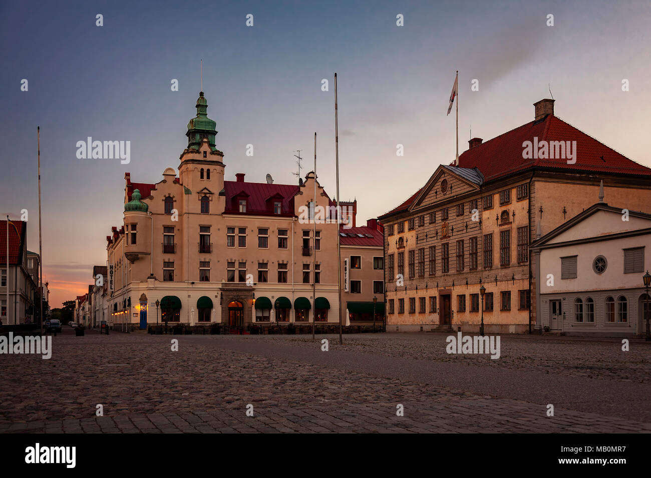 The picturesque town centre of Kalmar, Sweden. - Stock Image