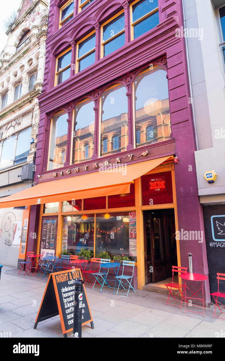 Night and Day bar, Oldham Street, Northern Quarter, Manchester, UK - Stock Image