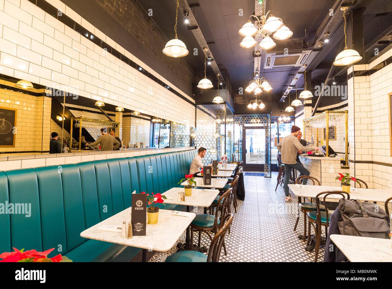 Fress Cafe, Oldham Street, Northern Quarter, Manchester, UK - Stock Image
