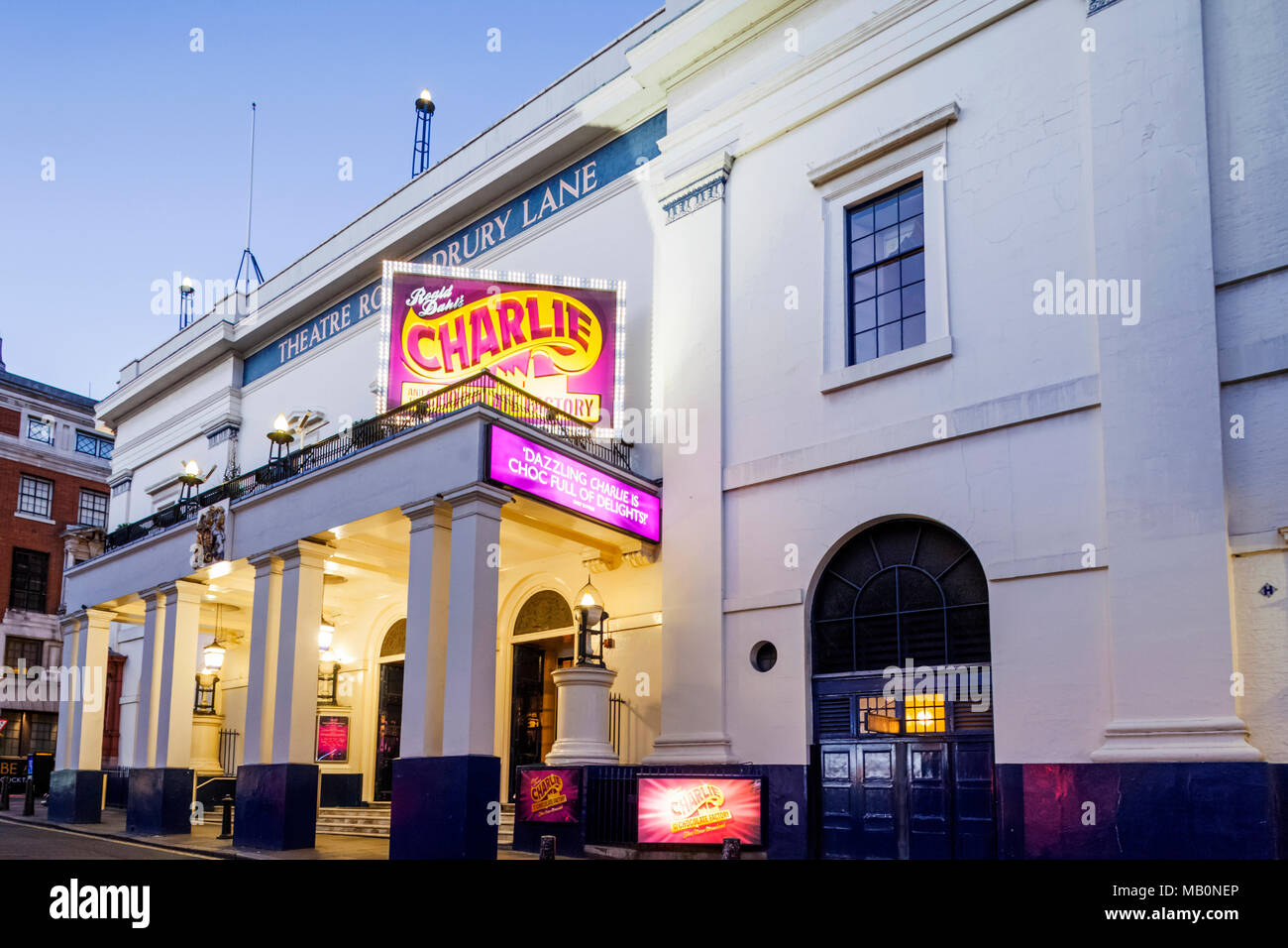 England, London, The West End, Theatre Royal Drury Lane - Stock Image