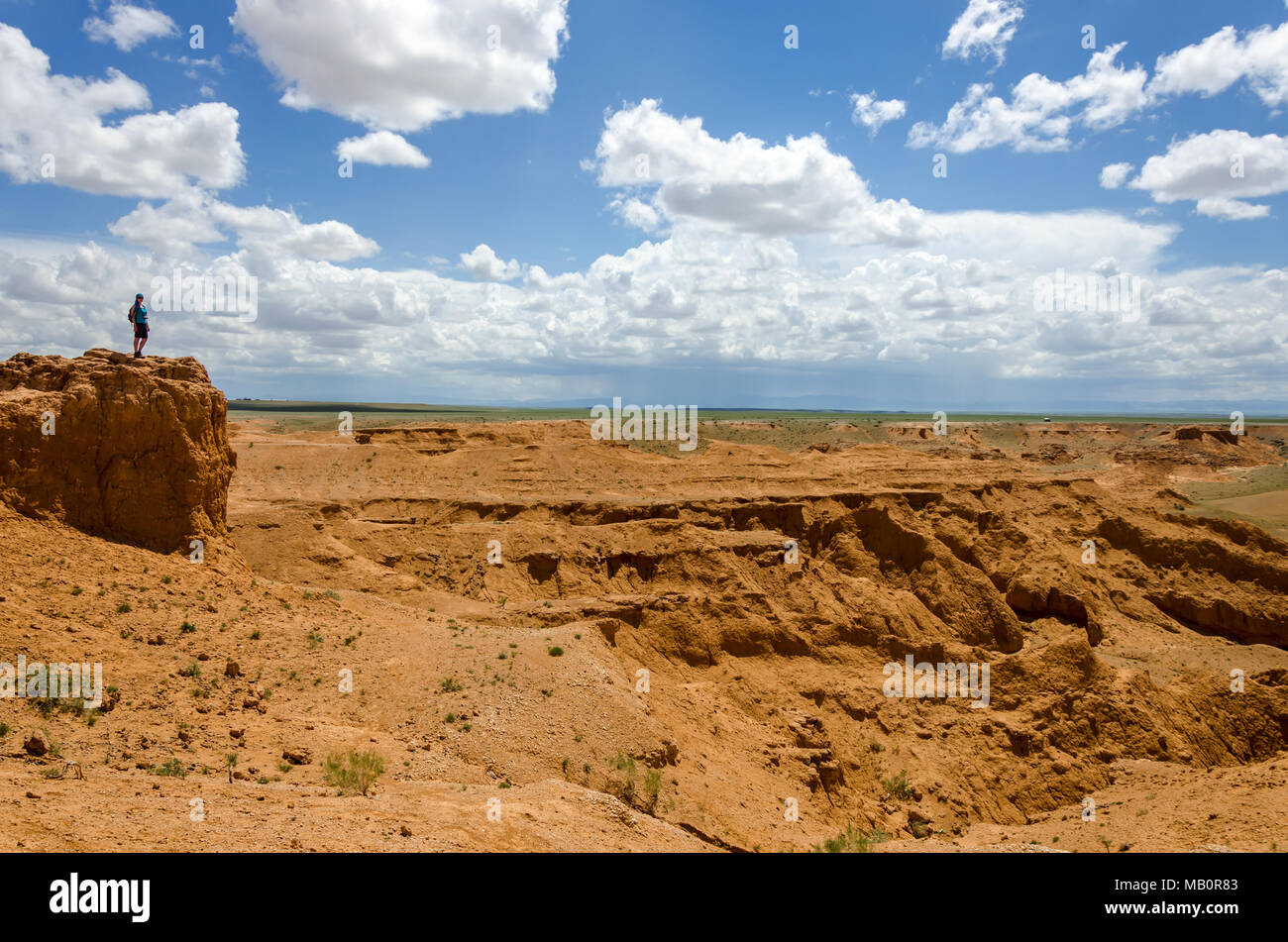 Flaming Cliffs, Gobi Desert Mongolia - Stock Image
