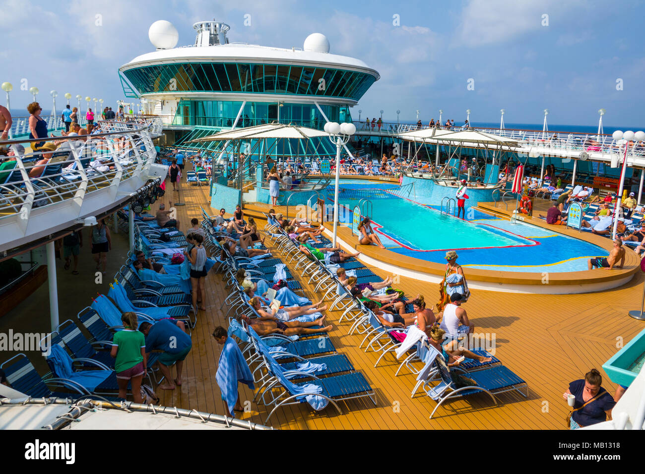 Poolside Activities aboard the cruise ship Royal