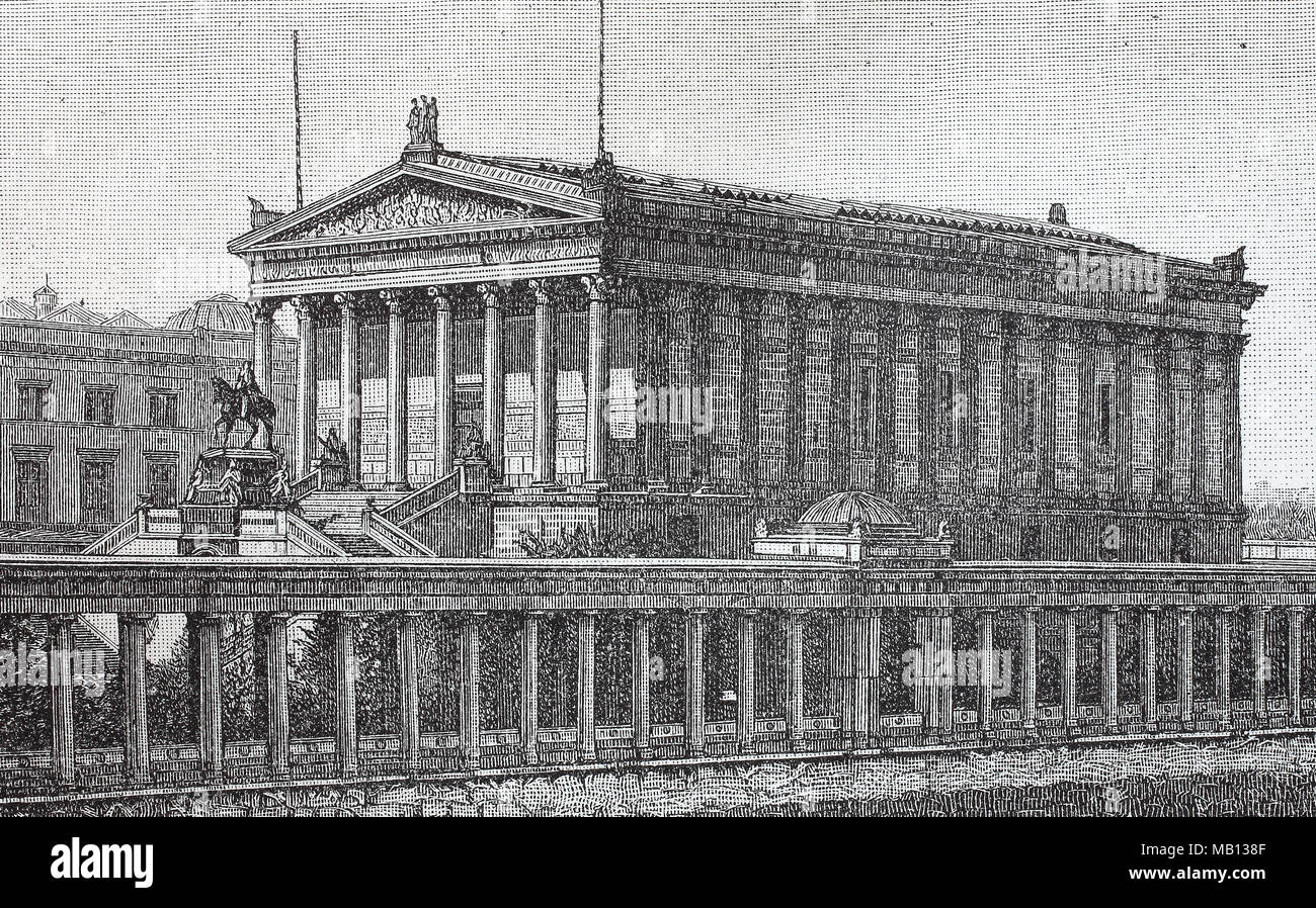 Nationalgalerie Berlin Deutschland 1876 The National Gallery In Berlin Germany Is A Museum For Art Digital Improved Reproduction Of An Original Print From The Year 1895 Stock Photo Alamy