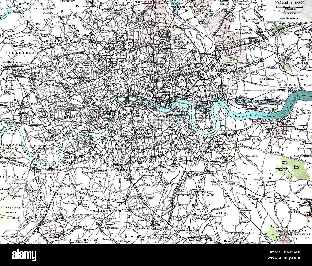 London England City Map.Stadtplan Vom Inneren Zentrum Von London England 1895 City Map Of