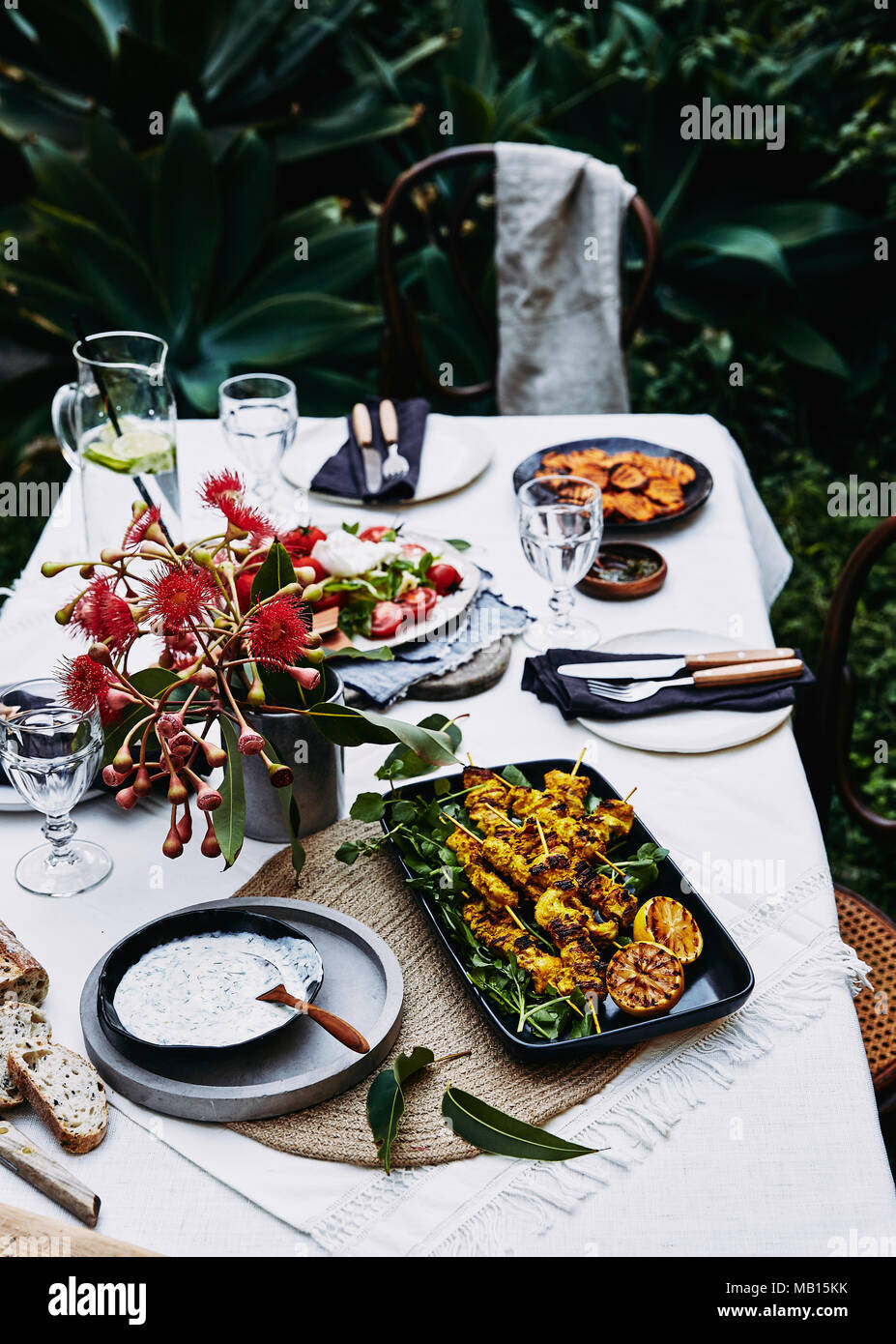 Summer outdoor picnic - Stock Image
