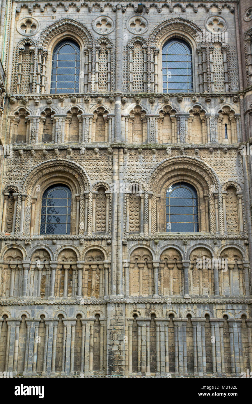 Exterior detail of ely cathedral, ely, cambridgeshire, england, europe - Stock Image