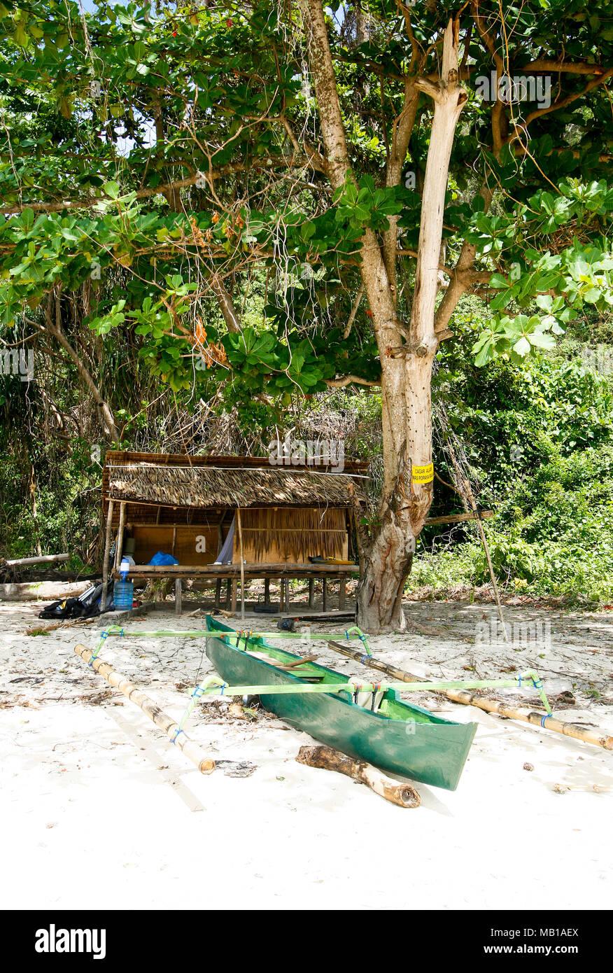 Deserted island. Gorontalo, Sulawesi, Indonesia - Stock Image