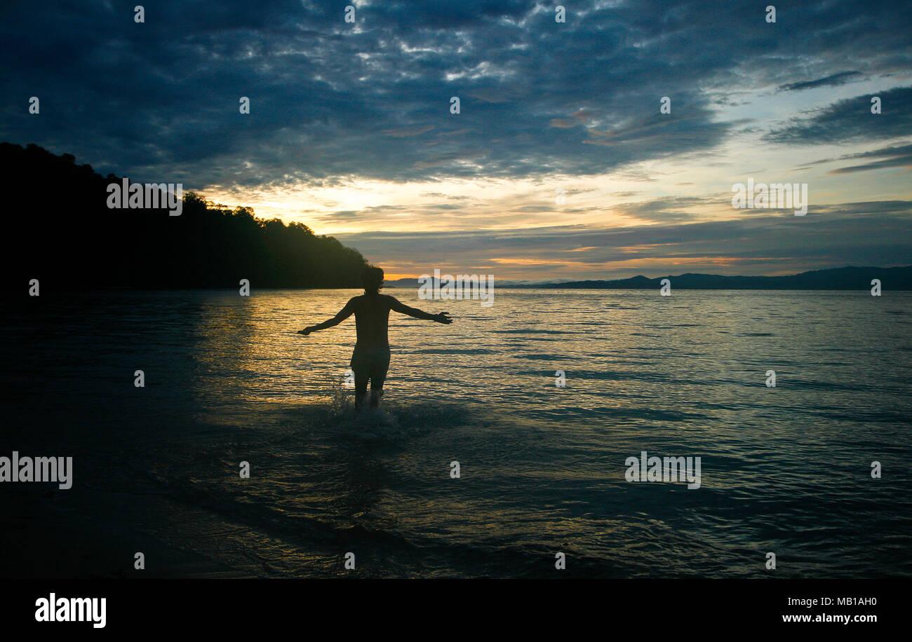 Deserted  island. Sulawesi. Indonesia - Stock Image