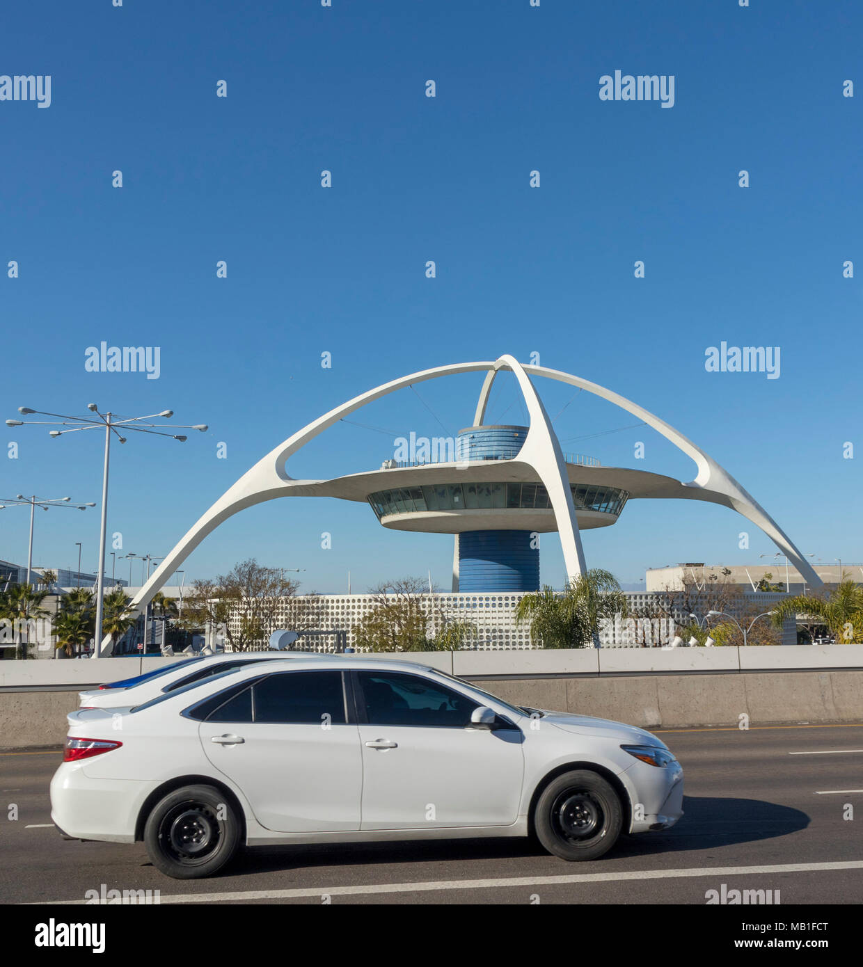 the Theme Building, LAX, Los Angeles airport, California, USA - Stock Image