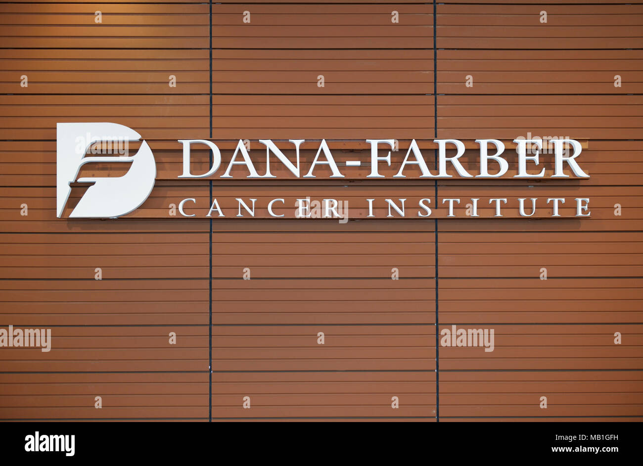 Dana-Farber Cancer Institute, famous cancer research hospital, Boston, MA - Stock Image