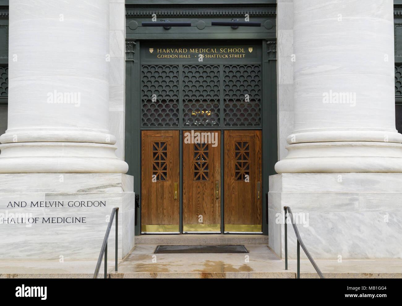 Harvard Medical School entrance, Boston, MA - Stock Image
