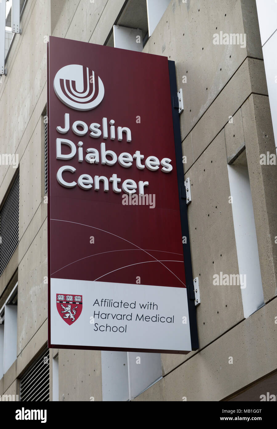 Joslin Diabetes Center, Boston MA. Diabetes research and treatment hospital affiliated with Harvard Medical School - Stock Image