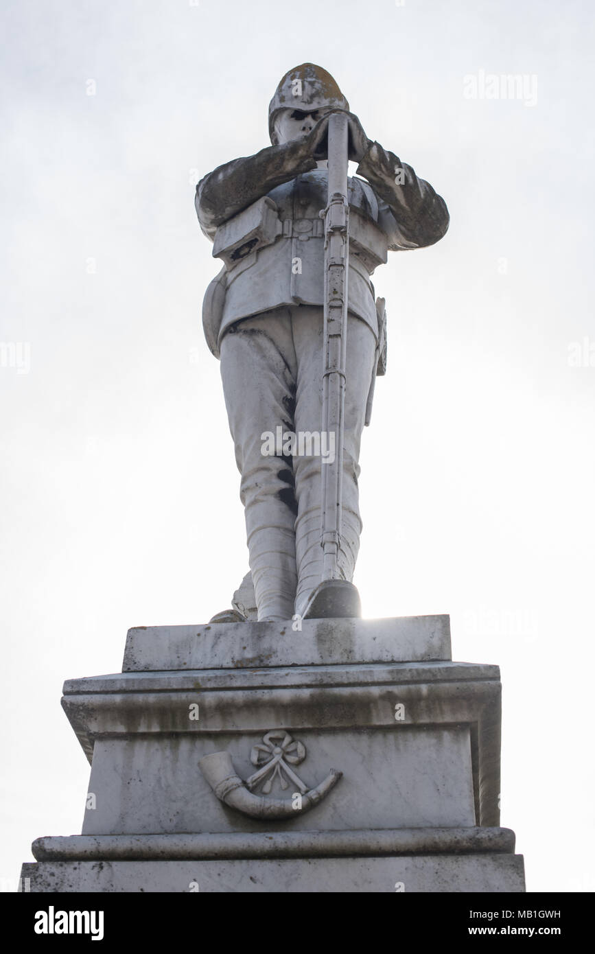 South Africa War Memorial 1899-1902 (Boer War) remembering those British men who died from conflict and from disease during this time - Stock Image