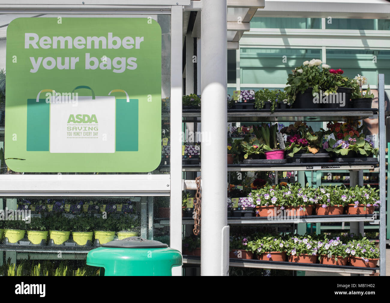 Asda Shopping Bags Stock Photos & Asda Shopping Bags Stock