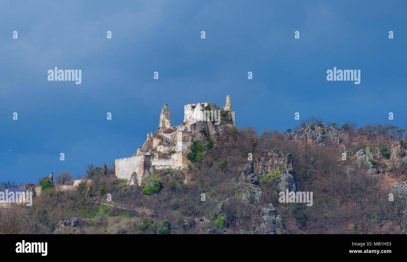 Burgruine Dürnstein in der Wachau - Stock Image