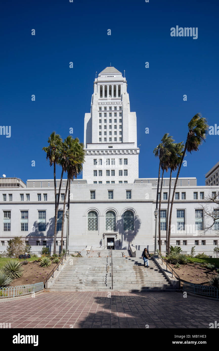 Los Angeles City Hall, completed 1928, California, USA - Stock Image