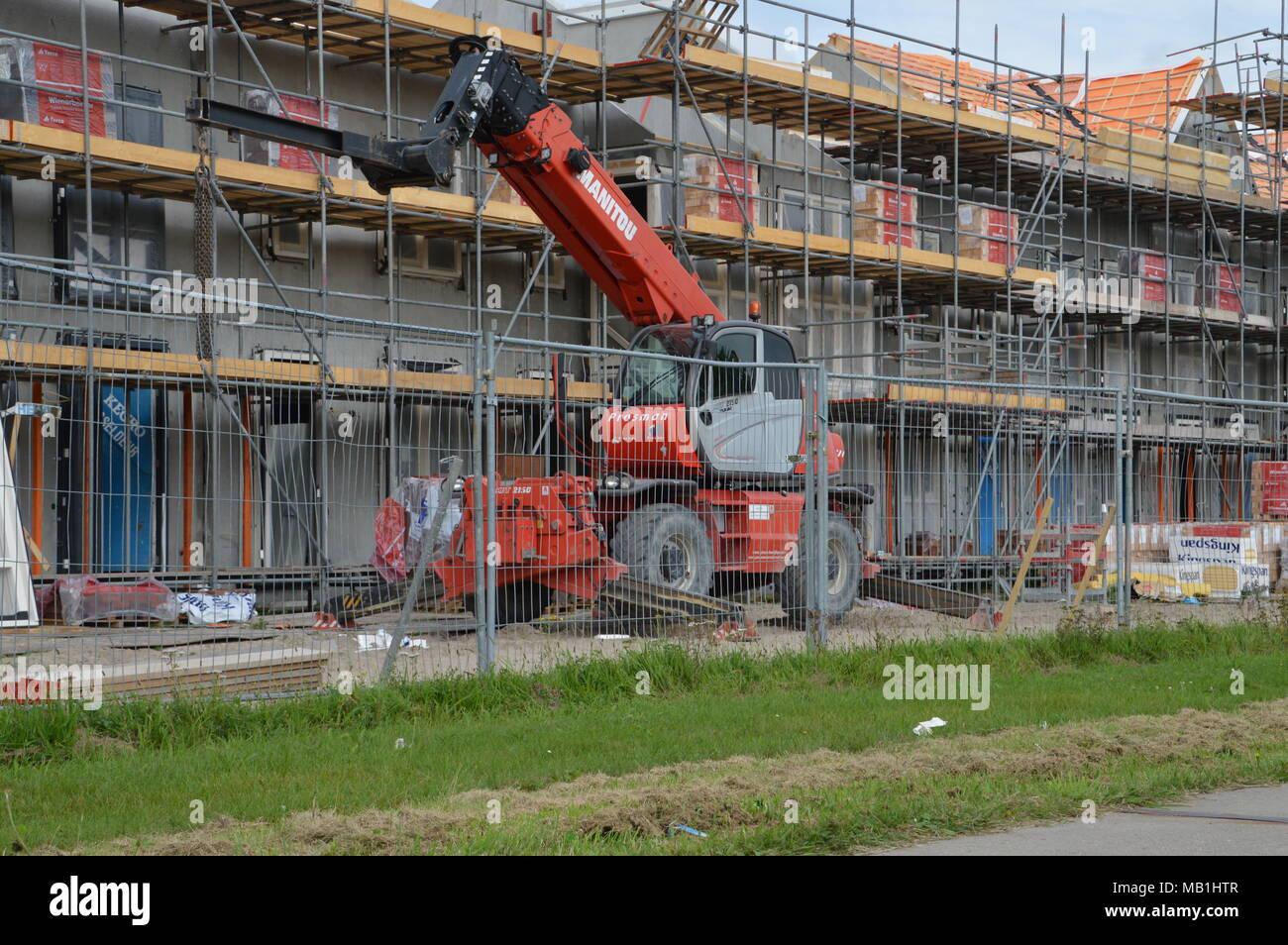 Building Houses At Diemen The Netherlands - Stock Image