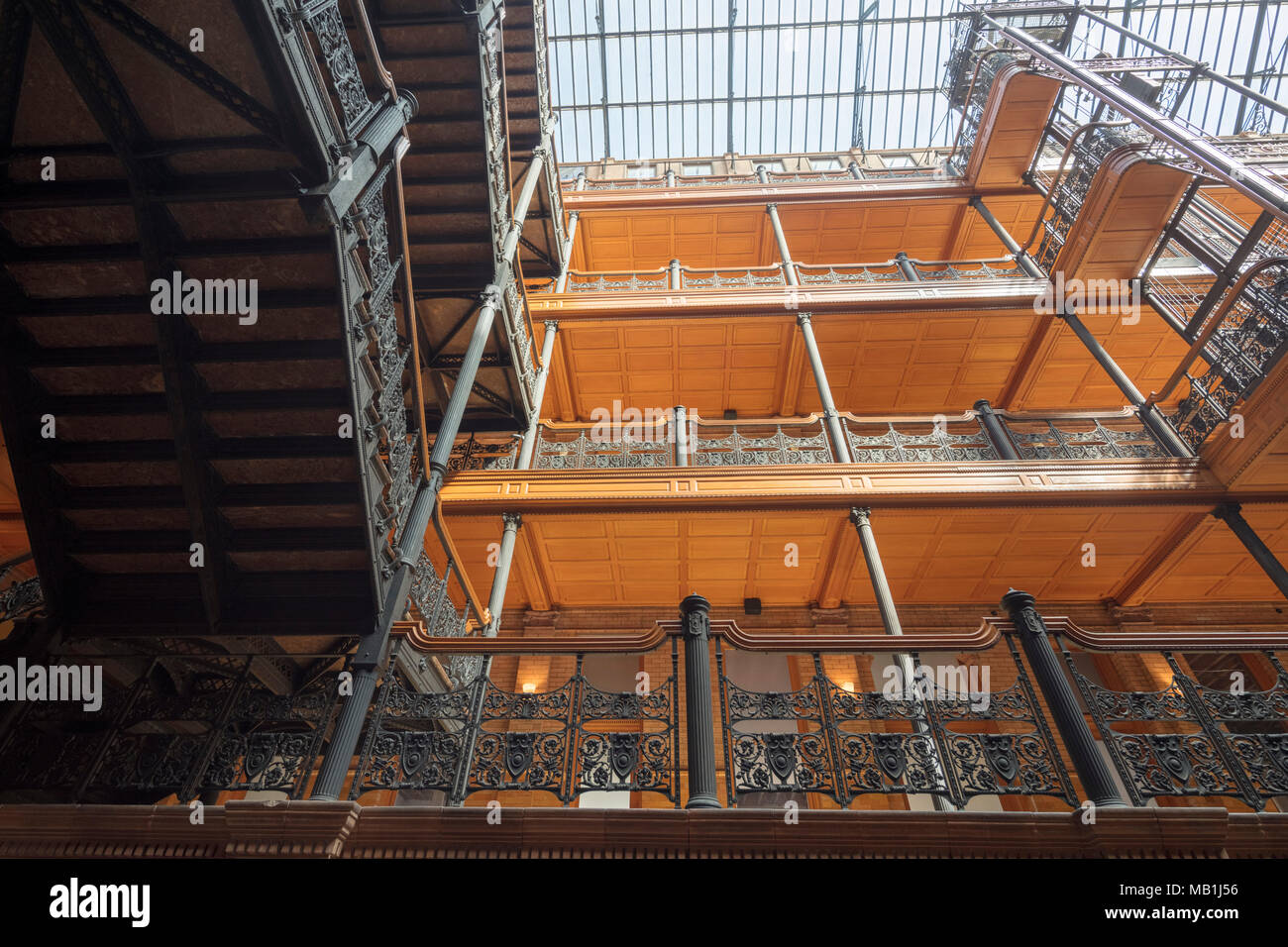 lobby of The Bradbury Building, 304 South Broadway at West