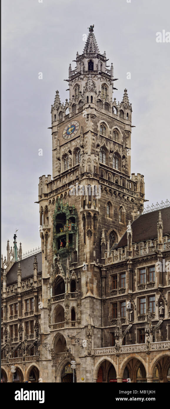 Famous places of Munich Germany street photography - Stock Image