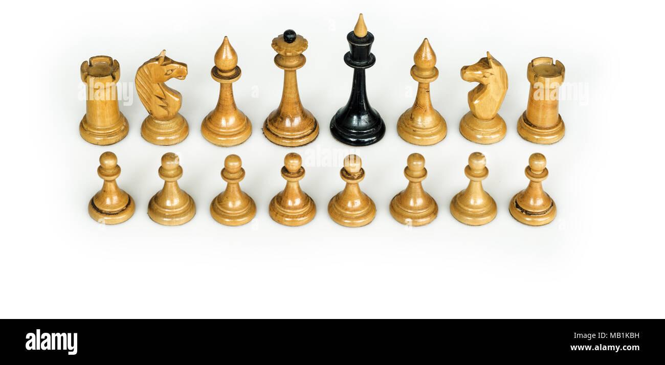 conceptual chess pieces - Stock Image