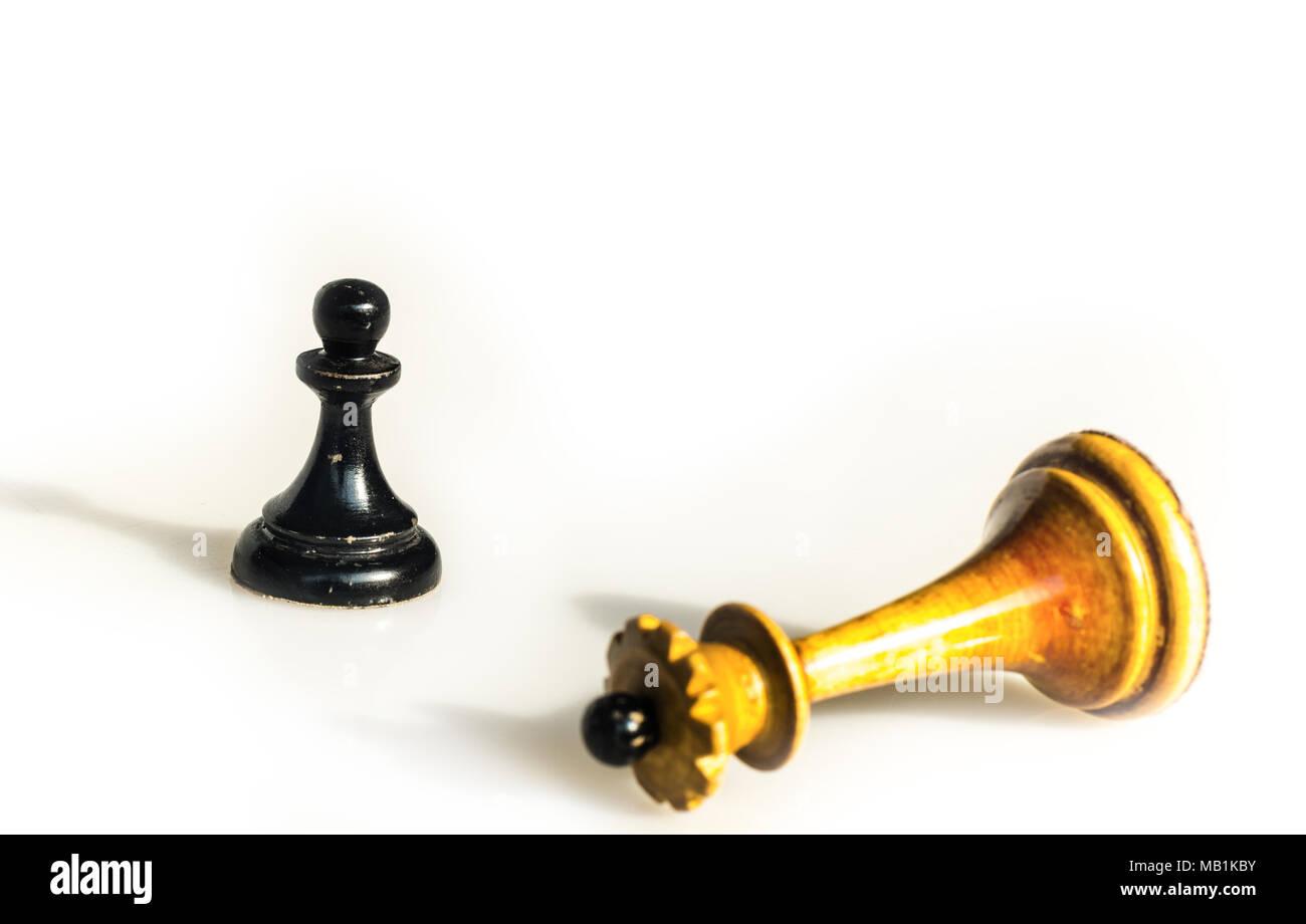 passed pawn - Stock Image