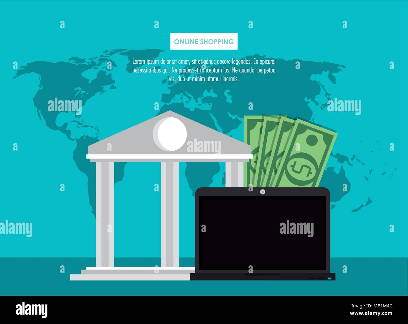 Online secure shopping and transactions - Stock Image