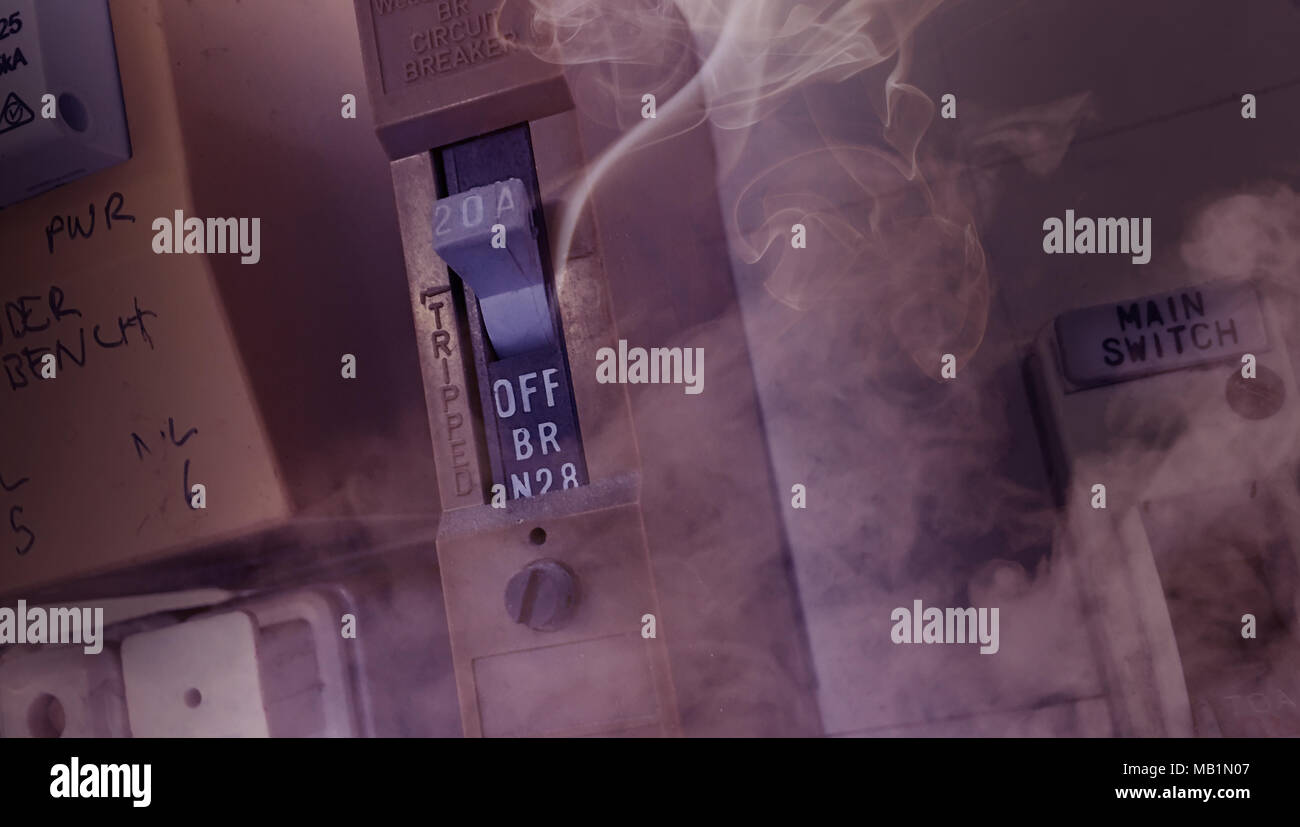 pre ignition smoke coming from an old electrical fuse box relating in a  house fires -